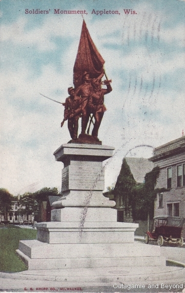 ca. 1912 ~ Soldiers' Monument, Appleton, Wis.