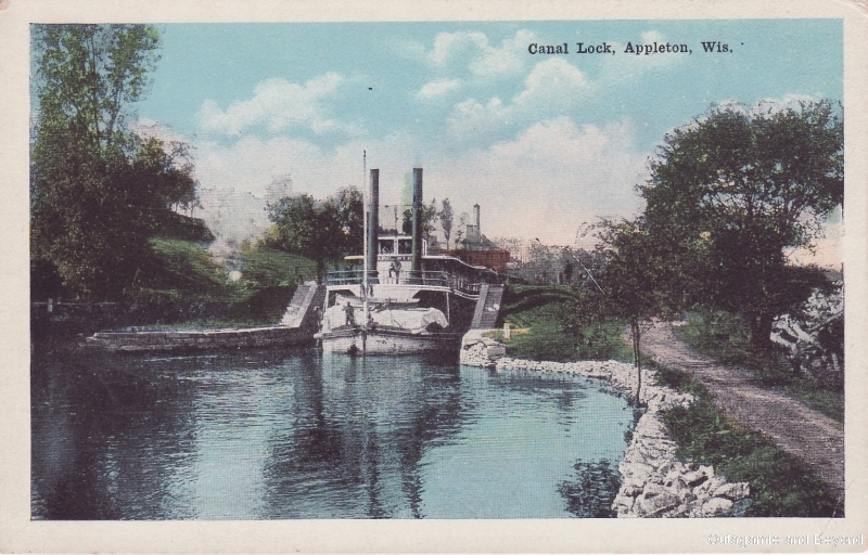 ca. 1941 ~ Canal Lock, Appleton, Wis.