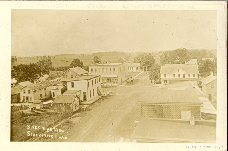 ca. 1910 ~ Bird's Eye View Stockbridge, Wis