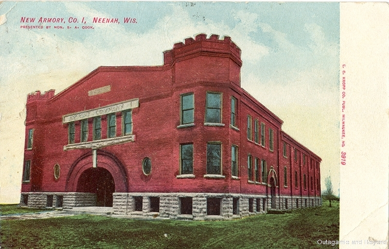 ca. 1907 ~ New Armory, Co. I, Neenah, Wis