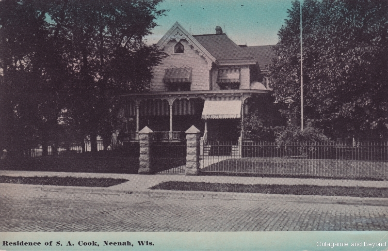 Residence of S. A. Cook, Neenah, Wis.