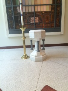 Baptismal Font, Sacred Hearts of Jesus and Mary, NYC