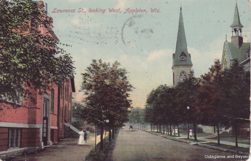 ca. 1910 ~ Lawrence St. looking West, Appleton, Wis.