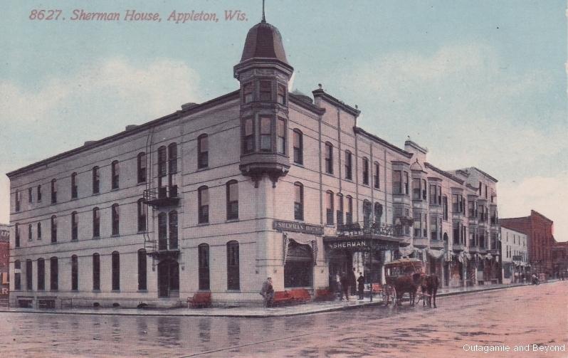 ca. 1914 ~ 8627. Sherman House, Appleton, WIs.