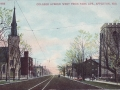 ca. 1909 ~ College Avenue West from Park Avenue, Appleton, Wis.